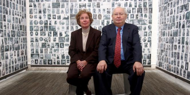 Serge et Beate Klarsfleld au Mémorial de la Shoah, en 2007.