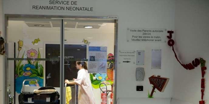 Le service de réanimation néonatale de l'hôpital de Chambéry, le 5 janvier.