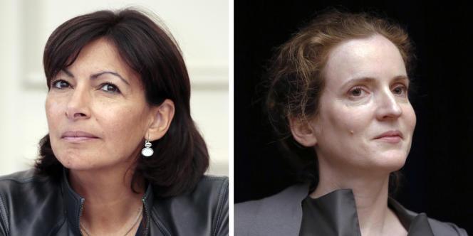 Les candidates à la mairie de Paris, Anne Hidalgo (PS) et Nathalie Kosciusko-Morizet (UMP).