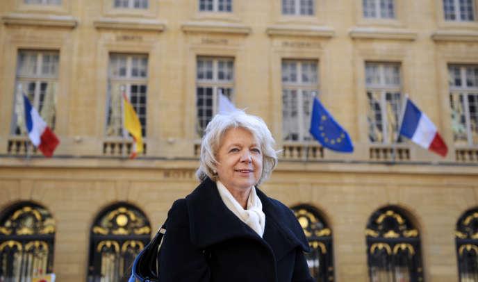 La députée de Moselle Marie-Jo Zimmermann, candidate de l'UMP aux municipales à Metz.