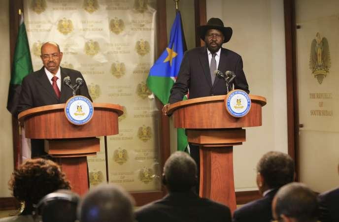 Le président du Soudan, Omar el-Béchir, et son homologue sud-soudanais, Salva Kiir, se sont rencontrés avant l'ouverture des pourparlers entre le gouvernement du Juba et les rebelles.