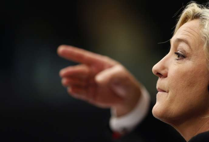 Marine Le Pen au parlement de Strasbourg en décembre 2013.