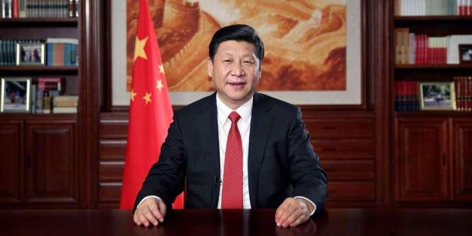 Le président chinois Xi Jinping lors de ses vœux télévisés, le 31 décembre 2013.