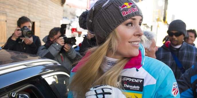 Lindsey Vonn le 21 décembre à Val d'Isère.