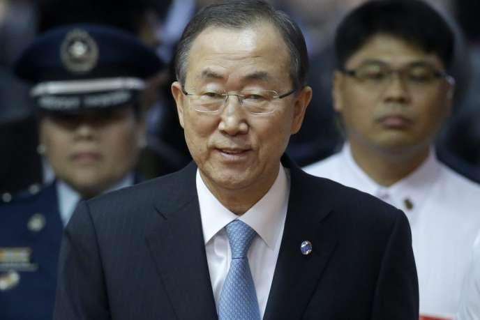Ban ki Moon, secrétaire général des Nations unies, le 20 décembre aux Philippines.