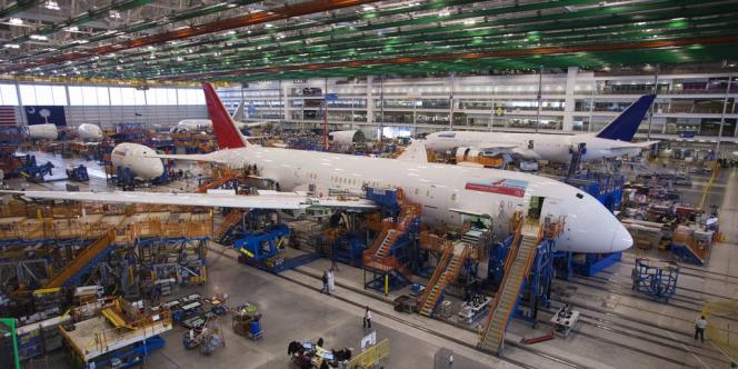 Un 787 Dreamliner est finalisé sur le site d'assemblage de North Charleston (Caroline du Sud), le 19 décembre.