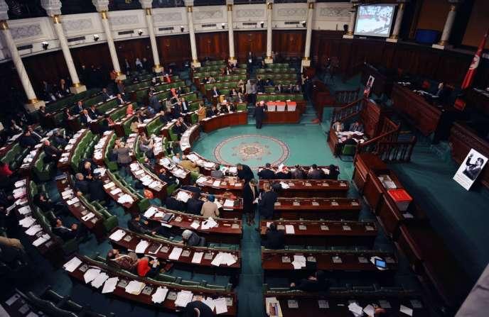 Le Parlement tunisien, le 8 janvier.