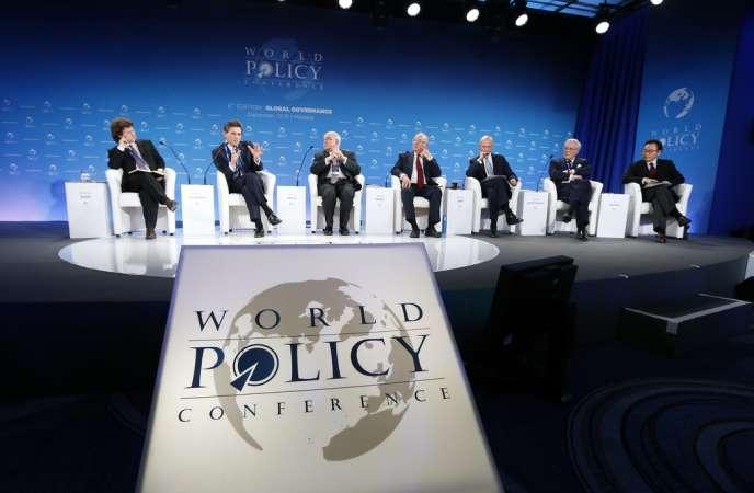 Pendant la sixième  World Policy Conference à Monaco, le 13 décembre.
