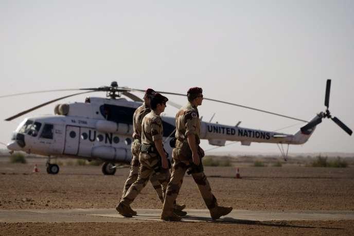 Des soldats français à Gao, dans le nord du Mali, le 31décembre2013.