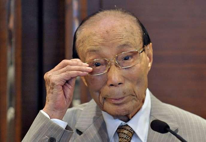 Le producteur de cinéma chinois Run Run Shaw à Hongkong, le 28 mai 2008.