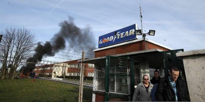 Des salariés de Goodyear Amiens, le 8 janvier.