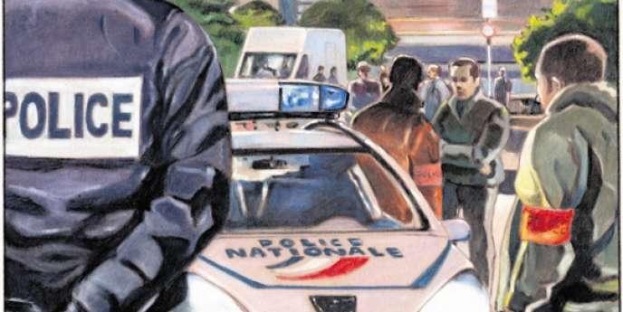 Opération coup de poing de la brigade spécialisée de terrain (BST) des 15e et 16e arrondissements de Marseille.