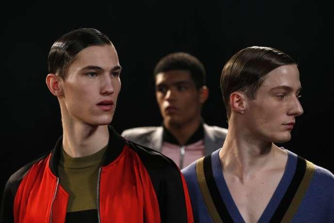Défilé Johnathan Saunders, lors de la Semaine de le mode masculine à Londres, le 7 janvier.