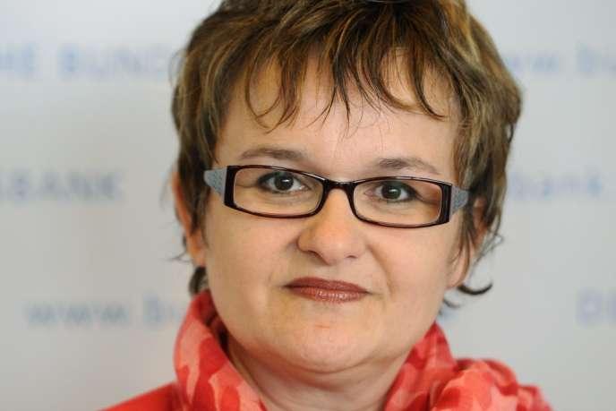 La vice-présidente de la Bundesbank allemande, Sabine Lautenschlaeger, à Francfort en 2011.