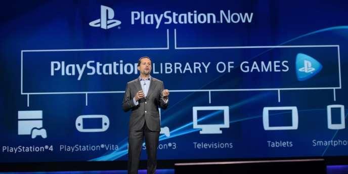 La présentation de l'offre de cloud gaming de Sony, lors du  CES de Las Vegas.