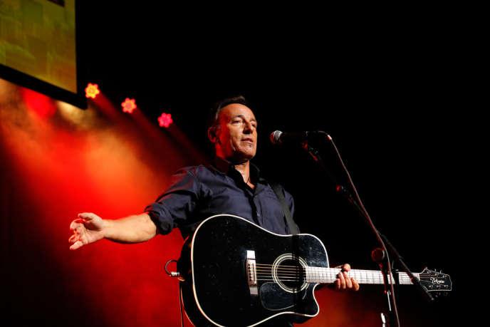 Le chanteur Bruce Springsteen lors d'un concert au Madison Square Garden à New York, le 6 novembre 2013.