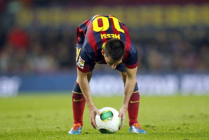 Lionel Messi, le 8 janvier au Camp No à Barcelone.