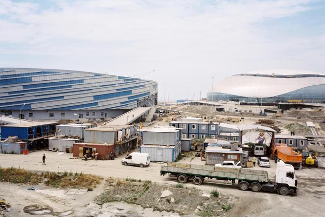 Le chantier du stade olympique en 2011.