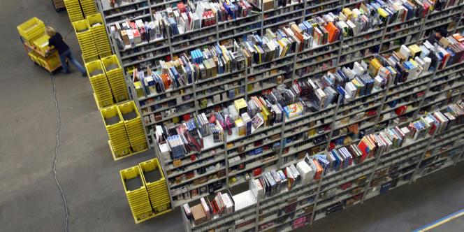 Les stocks de livres d'Amazon en Allemagne.