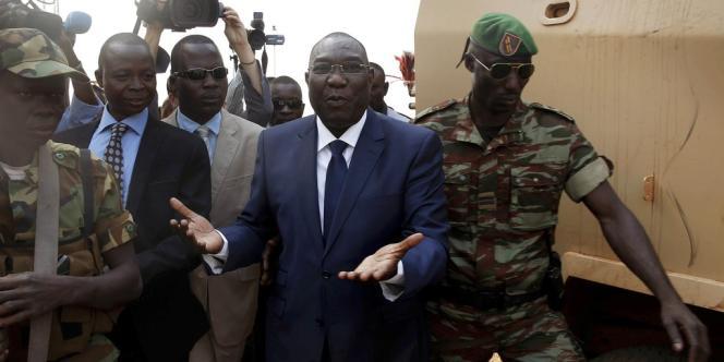 Michel Djotodia (au centre), le 19 décembre à Bangui.