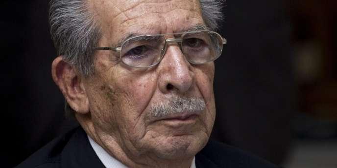 L'ancien dictateur du Guatemala Rios Montt en mars 2013.