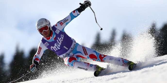 Thomas Fanara s'est classé 2e du slalom géant d'Adelboden, samedi 11 janvier.