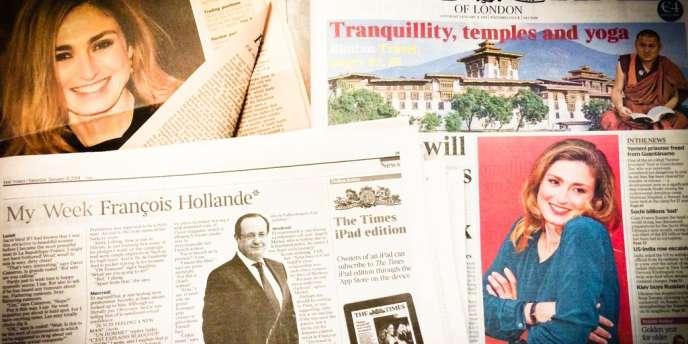 Articles consacrés à l'affaire Hollande-Gayet dans le