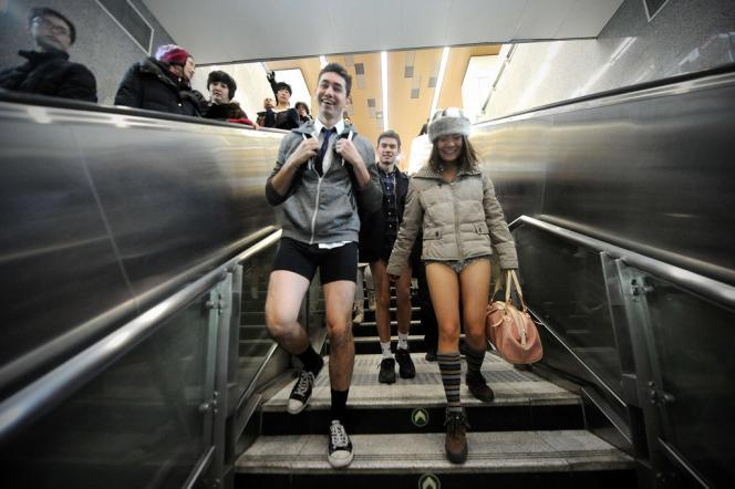 No Pants Subway Ride à Pékin.