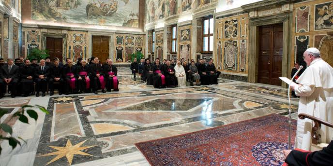 Le pape François, le 11 janvier, lors de la collaboration culturelle avec les Eglises orthodoxes et orientales.
