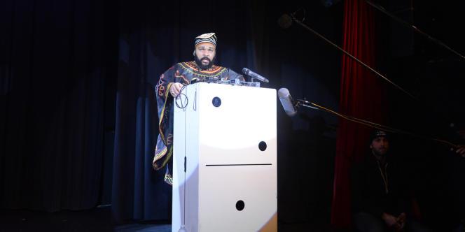 Dieudonné donne une conférence de presse au théâtre de la Main d'or à Paris samedi 11 janvier.