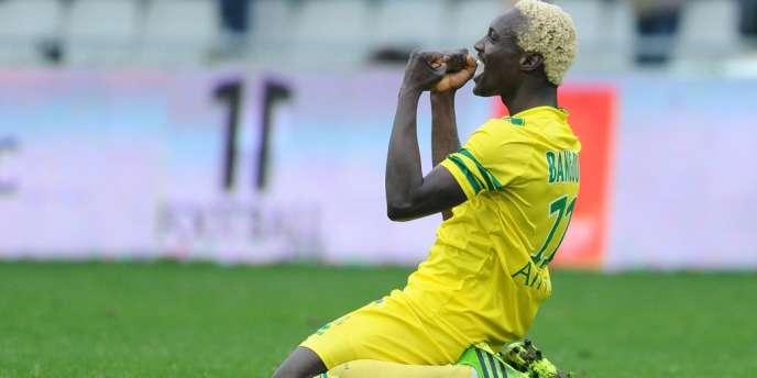 Ismael Bangoura a arraché la victoire pour le FC Nantes face à Lorient, dimanche 12 janvier.