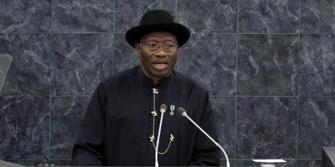 Goodluck Jonathan, le président nigérian, à la tribune des Nations unies, le 24 septembre 2013.