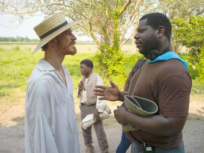 L'acteur Michael Fassbender et le réalisateur Steve McQueen sur le tournage du film anglo-américain