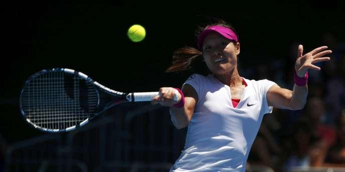 La Chinoise Li Na le 13 janvier pendant un match de l'Open d'Australie contre la Croate Ana Konjuh.