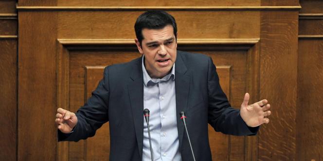 Le président de SYRIZA, Alexis Tsipras, le 7 décembre 2013, au Parlement grec.