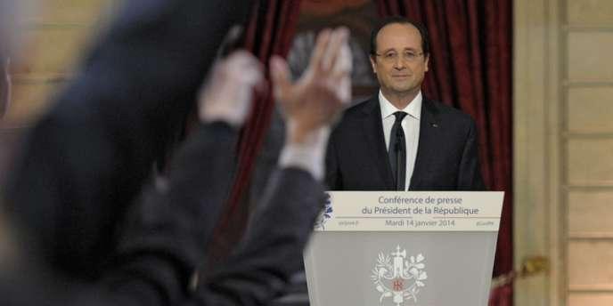 François Hollande, le 14 janvier lors d'une conférence de presse à l'Elysée.