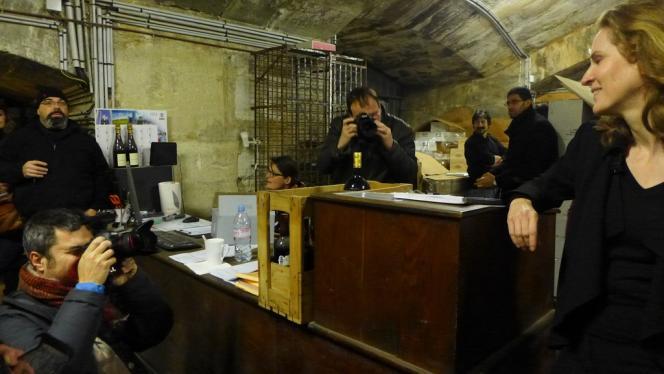 A Paris, dans un tunnel du réseau Baron-Le-Roy, Nathalie Kociusko-Morizet présente son projet d'aménagement de la zone Bercy-Charenton, mardi 14 janvier.