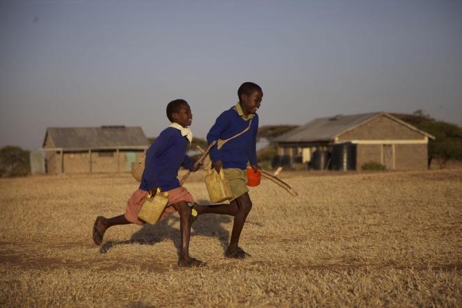 Jackson et sa soeur Salomé, les enfants kényans du documentaire
