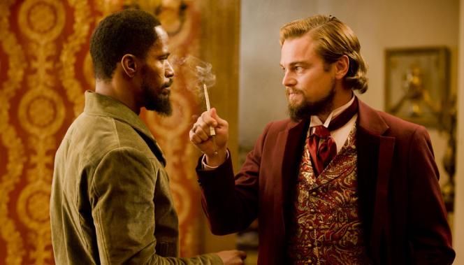 Jamie Foxx et Leonardo DiCaprio dans