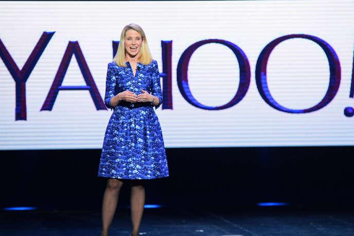 Ex-cadre dirigeant de Google, Marissa Mayer tient les rênes de Yahoo! depuis juillet 2012.