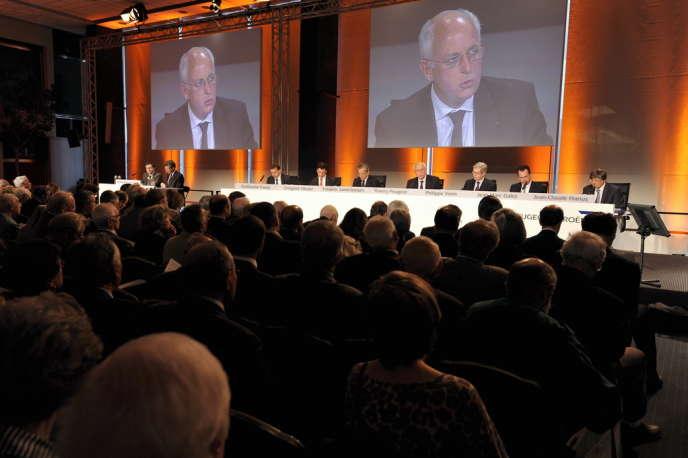 Assemblée générale du groupe PSA Peugeot Citroën, en juin 2010.