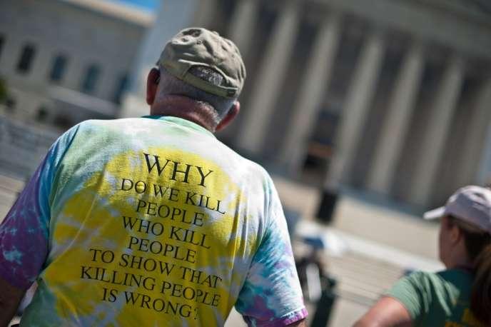 Manifestation contre la peine de mort à Washington, en 2013.