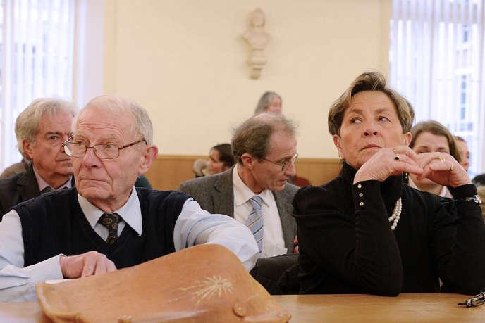 Pierre et Vivivane Lambert, les parents de Vincent, au tribunal administratif de Châlons-en-Champagne, le 15 janvier.