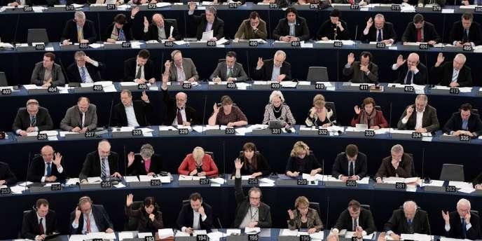 Au Parlement européen, le 14 janvier 2014.