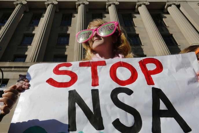 Manifestation de le département de la justice, à Washington, vendredi 17 janvier 2014.