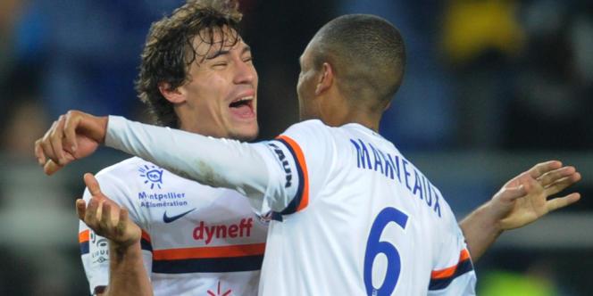 Les Monpelliérains Benjamin Stambouli et Joris Marveaux, le 18 janvier à Sochaux.