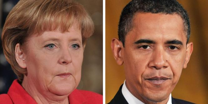 La chancelière allemande Angela Merkel et le président des Etats-Unis Barack Obama.