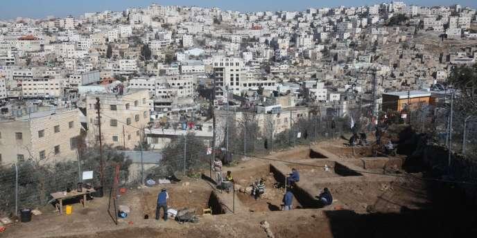 Une vue de la vieille ville de Hébron, en Cisjordanie, où les tensions sont vives entre les habitants palestiniens et les colons israéliens.