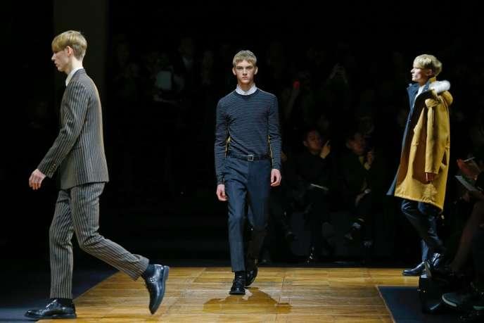 Défilé Dior Homme, le 18 janvier à Paris.
