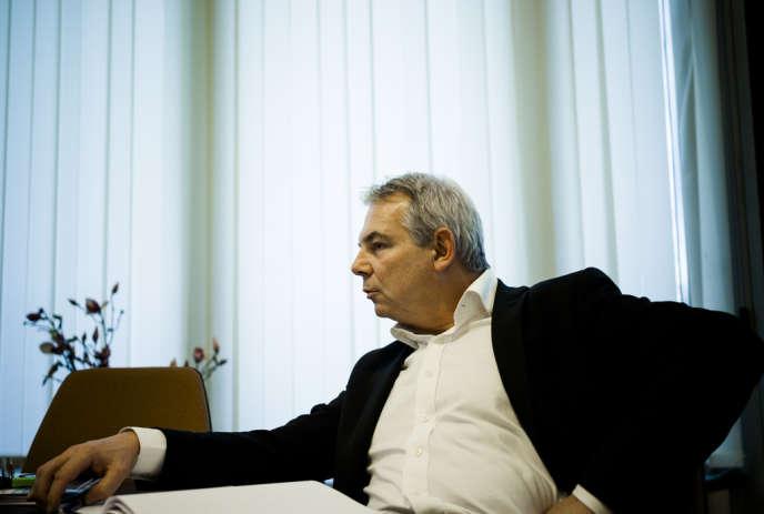 Thierry Lepaon, secrétaire générale de la CGT, au siège national, le 16 janvier, à Montreuil.